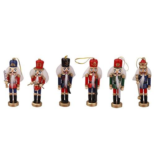 Lot 6 Casse Noisette en Bois écossais Collection Cadeaux Roi Figurine