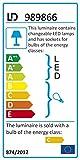 Leuchten Direkt, Deckenleuchte, 4xG4 / 14W, 24xLED / 0,05W, chrom