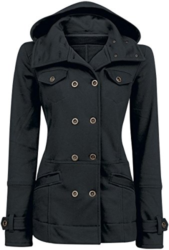 Forplay Cushy Coat Felpa jogging donna nero XL