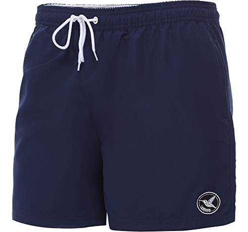 Ladeheid Herren Badehose Badeshorts Beachshorts Schwimmhose LA40-128 (Marine/Blau, Large) (Marine-blau-shorts)