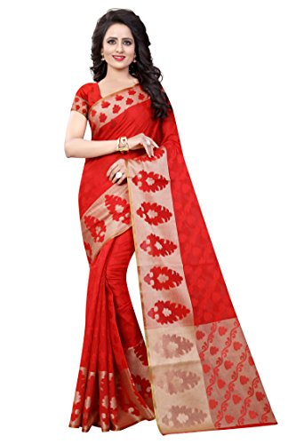 Dealsure Women's Multicolor Banarasi Silk Saree