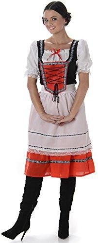 Bayerisches Mädchen Damen Oktoberfest Bier Mädchen Frauen Erwachsen Kostüm Neu (Medium European 40 - 42 (UK 12 - 14))