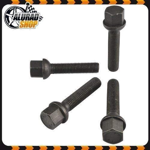 Alurad Shop 10 Boulons M12x1,5 en Différentes Longueur de Tube Zinc - Noir, 34mm