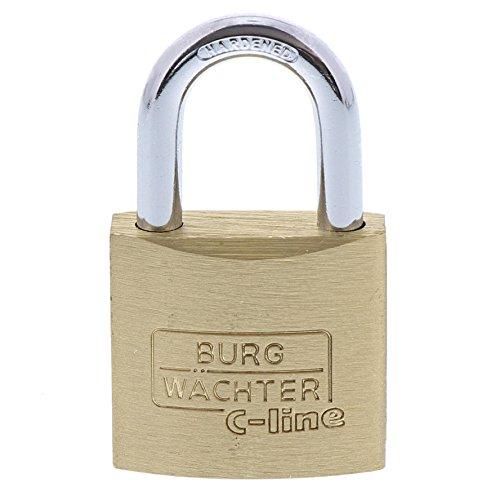 BURG-WÄCHTER Vorhängeschloss, 5 mm Bügelstärke, 2 Schlüssel, C-Line 222 30 SB