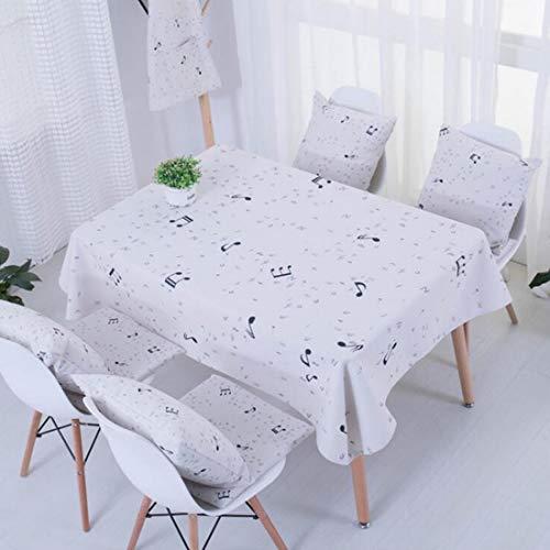 Yammucha Baumwolltischdecke-einfache Rechteck-Tabellen-Abdeckung für Partei-Feiertags-Hochzeits-Abendessen, weiß (Size : 90 * 140)