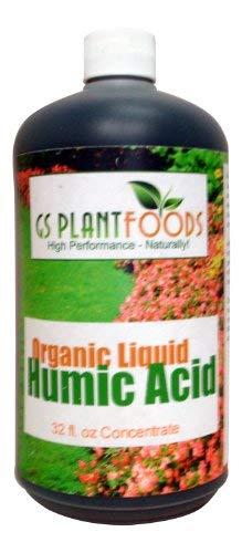 GS Plant Foods Ácido Húmico Líquido Orgánico, Concentrado De 32 Fl Oz