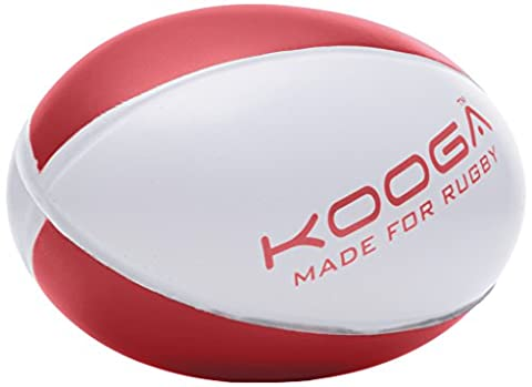 Kooga Ballon de Rugby-Mini Blanc/Rouge