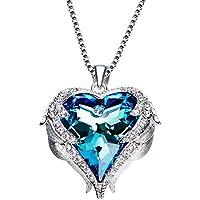 OYHBV Pulsera Collar De Corazón De Océano Femenino Cristal En Forma De Corazón, C