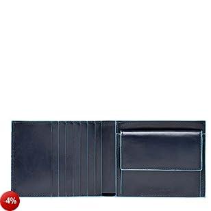 Piquadro Blue Square Portamonete,  12 cm, 0.43 litri, Blu Notte