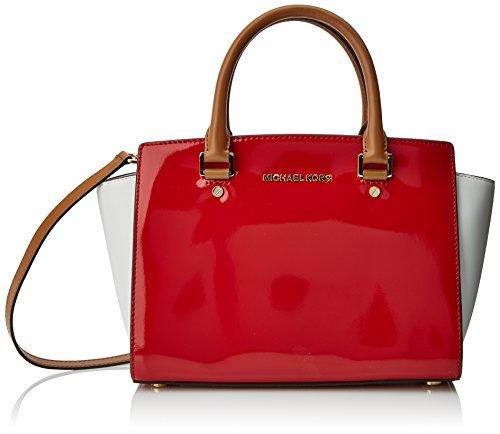 fbd1f98b2c8981 Michael Kors Selma, Borse a secchiello Donna Rosso Bright Red