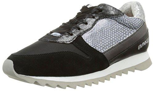 BUNKERSneaker - Scarpe da Ginnastica Basse Donna , Nero (Nero (nero)), 37