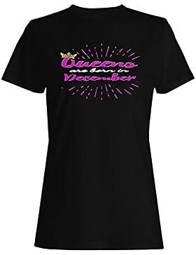 Gold Crown Queens nacieron en diciembre camiseta de las mujeres aa72f