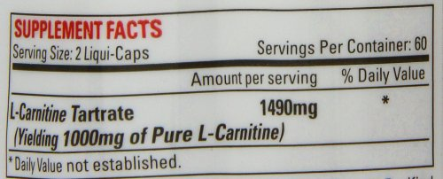 Nutrex Research Lipo-6 Carnitine Standard Capsules, 120-Count