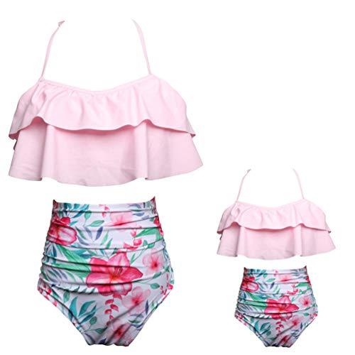 YiLianDaD Bikini Conjuntos Cintura Alta Trajes Baño