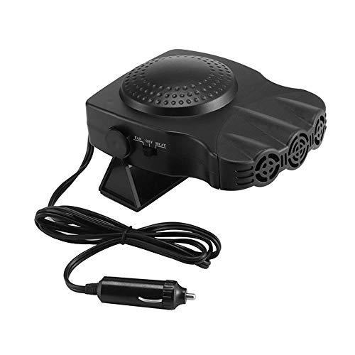 LayOPO - Ventilador de Aire Multifuncional para Coche, 30 Segundos, Calentamiento rápido, descongelación rápida, 12 V, 150 W, Calentador de cerámica portátil (Black)