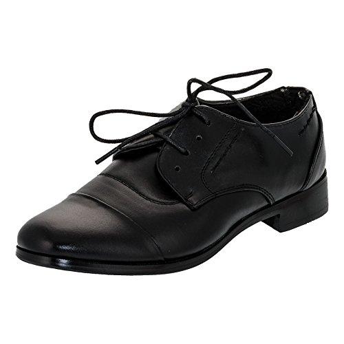 Festliche Kinder Anzug Schuhe mit Einer Innensohle Aus Echtem Leder M338sw Schwarz Gr.35