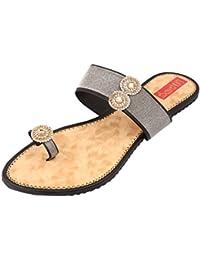 Footrendz Women's Trendy Faux Leather Flats
