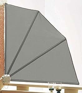 grasekamp sichtschutz f cher 120x120cm balkon trennwand grau k che haushalt. Black Bedroom Furniture Sets. Home Design Ideas