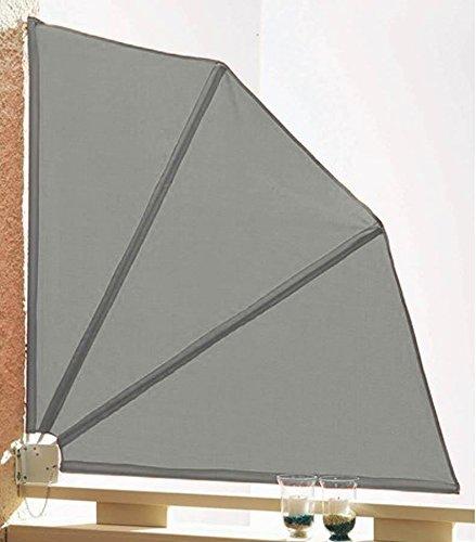 Sichtschutz Fächer 120x120cm Balkon Trennwand Grau