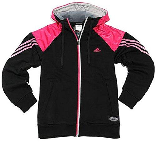 Adidas TC FZ Full Zip Hoody Hoodie Jacket Jacke Trainingsjacke schwarz/pink, Größe:L
