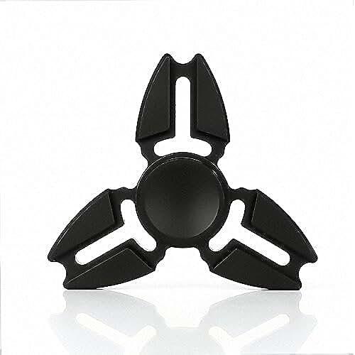 fidget spinner el nuevo juguete de moda Fidget Hand Spinner Tri Fidget Spinner juguete, IVSO Hand Spinner Fidget con alta velocidad de rodamiento de cerámica Stress Reducer Reliever Toy para ADD, ADHD, Ansiedad, Niños y Adultos Regalo regalo-aleación de aluminio