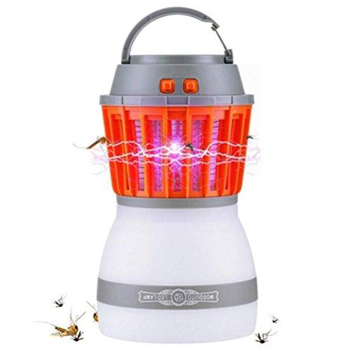 AISHUAIGE Bug Zapper 2 In 1 Nacht LED Glühbirne Lampe & Moskito Zapper Repellent | Wasserdicht, kompakt, 2200mAh wiederaufladbar und tragbar Für drinnen und draußen, Zuhause, Reisen -