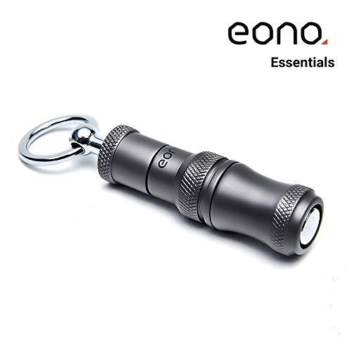 Eono Essentials Cigar Punch Kupfer graviert einziehbare und herausgeschraubte 2 Größe Klingen matt grau Raucherzubehör (7 mm und 9 mm) mit Schnalle