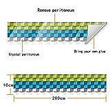 decalmile Bordüre Wandsticker Selbstklebende 3D Crystal Film Fliesenaufkleber Baseboard Aufkleber Schlafzimmer Schlafzimmer Küche Badezimmer Toilette Wand Dekor (10x200cm)
