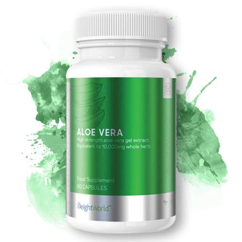 Aloe Vera Capsules - 10,000mg Plant-Based Vegan and Vegetarian-Friendly, Aims to Soothe Digestion, Highest Quality Aloe Vera, Highest Serving Concentration, Free of Strong Taste - 60 Capsules