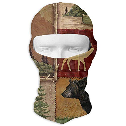 Gxdchfj Bacova Guild Lodge Memories Winter Tactical Full Face Mask UV Protection Balaclava Hood for Men and Women -
