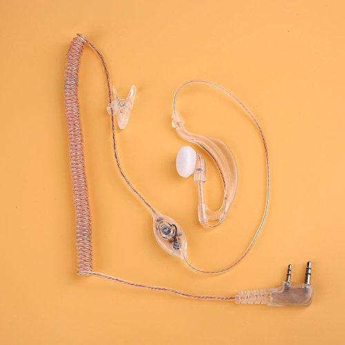 Fenghong Baofeng Intercom Headset Transparente Kurve Kopfhörer, Kopfhörer Transparente Kurve Draht Hängen Intercom Lautsprecher Mikrofon Kommunikationsgerät Ohr Hängen Tragbare Elektronische Produkt ( - Hängen Lautsprecher