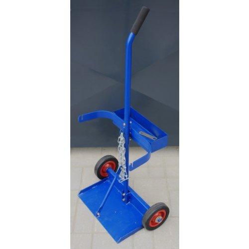 HUW24 Transportwagen für 2 x10 Liter technische Gasflaschen, zerlegbar blau