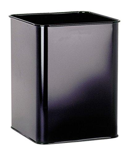 Durable 331501 Papierkorb Metall (eckig 18,5 Liter) schwarz