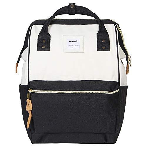 Himawari Polyester Laptop Daypack Vintage Schultertasche Für 13-Zoll Laptop (Schwarz + Weiß)