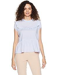 Symbol Amazon Brand Women's Striped Loose Fit Top