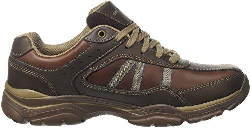 Skechers Herren Rovato-Texon Sneaker Braun (Chocolate)