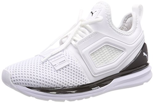 Puma Ignite Limitless 2, Scarpe Running Unisex-Adulto, Bianco White Black, 42 EU