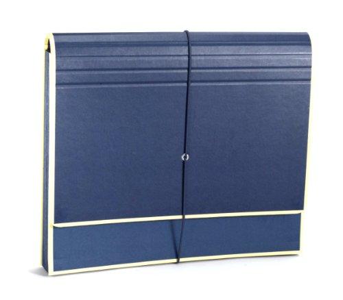 Semikolon (351978) Akkordeon mit Gummiverschluss marine (blau) | Sammelmappe/Fächer-Mappe für A4 und US Letter Size | Format: 32,0 x 27,5 cm