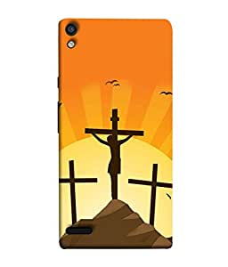 PrintVisa Designer Back Case Cover for Huawei Acend P6 (god jesus christ mountain view)