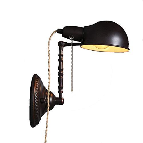 Vintage Industrial Style Wandleuchte Retro arbeiten office Wandlampe alt Falten Verstellbare ausziehbare Loft Coffee shop Lampe Nachttischlampe Leseleuchte E27