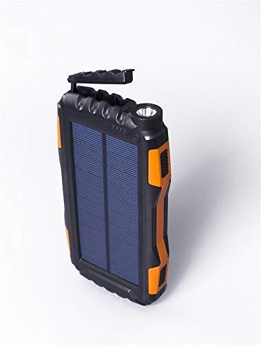 Eignet High Capacity 25000mAh Solar Power Bank for Trekking, Climbing, Tour, Journey, Trips (Orange) Image 9