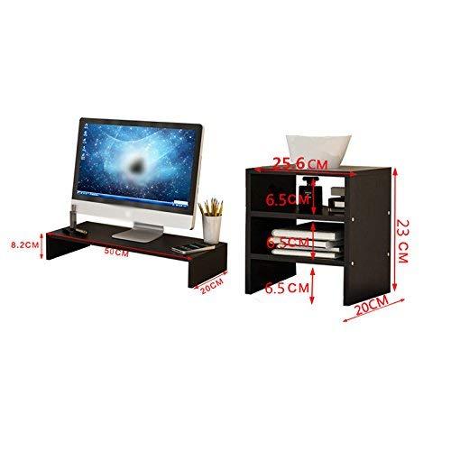 Lcd-ecke (DFFS Rack Regal Ecke Ständer Display Rack Holzplatte LCD Computer Monitor Höheres Regal Basis Halterung Tisch Tastatur Lagerregal, Single Layer +3 Layer Assembly, Pink (Farbe: Braun))
