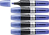 Stabilo Luminator - Marcador, color azul, 5 unidades
