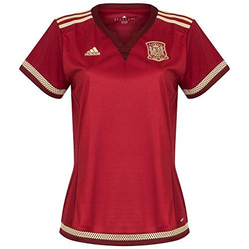 adidas FEF W H JSY WC Damen-T-Shirt, Rot/Weiß/goldfarben, Damen, L