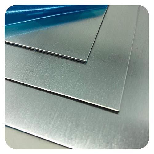 Stahlog Bleche Aluplatte Alublech Blech in 0.5mm Blechzuschnitt nach Auswahl (0.5mmx 200mmx 500mm)
