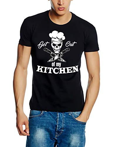 Coole-Fun-T-Shirts Koch Shirt. GET Out of My Kitchen T-Shirt schwarz Gr.S