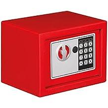 Tool País bg90009–Caja fuerte electrónica, 23cm x 17cm x 17cm Dimensiones, color rojo
