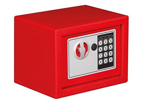Tool País bg90009-Caja fuerte electrónica, 23cm x 17cm x 17cm Dimensiones, color rojo