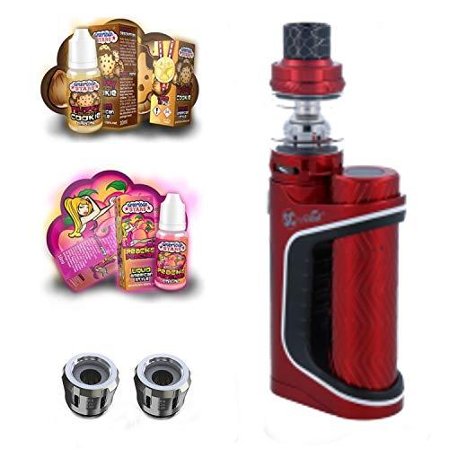 E-Zigarette SC Pico S by Eleaf Rot iStick 100 W Starterset 2600 mAh   TC Temperaturregelung mit Keepower Akku   mit SC Liquids - 00mg Rauchen ohne Nikotin