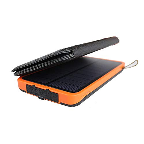 SJZC Solar-Ladegerät kabellos 10000 mAh tragbarer mobiler Dual-Ausgang mit wasserdichtem Akku für alle Mobiltelefone usw.